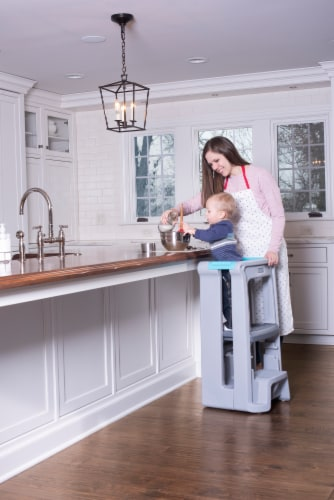 Simplay3 Toddler Tower Adjustable Stool - Gray Perspective: right