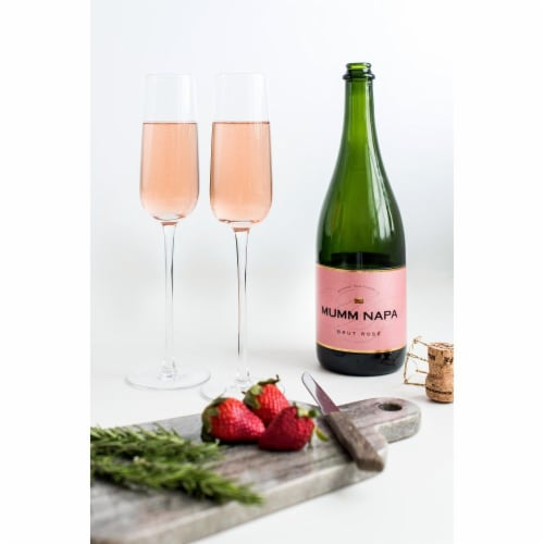 Mumm Napa Brut Rose Sparkling Wine Perspective: right