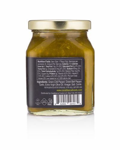 Mina Harissa Spicy Moroccan Green Pepper Sauce Perspective: right