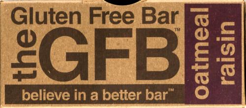 the GFB Oatmeal Raisin Gluten Free Bar Perspective: right