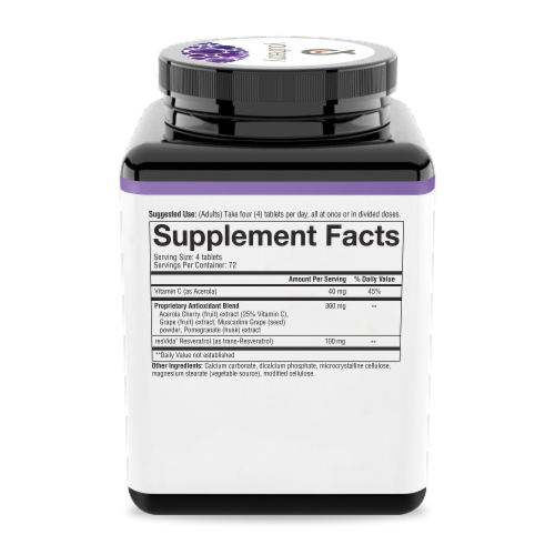 Youtheory™ Resveratrol Advanced Formula Tablets Perspective: right