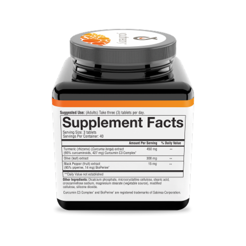 Youtheory Turmeric Advanced Supplement Tablets Perspective: right