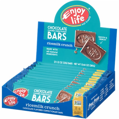 Enjoy Life Ricemilk Crunch Chocolate Flavored Confectionery Bar Perspective: right
