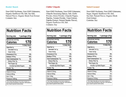 Munchy Sampler 3-Packet Variety Munchy Crunchy Protein Snack Perspective: right