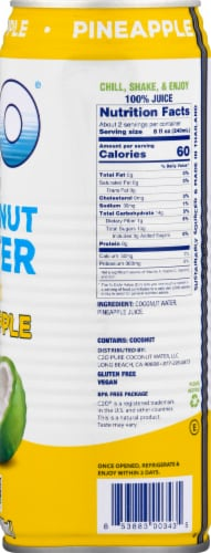 C2O Coconut Water With Pineapple Perspective: right