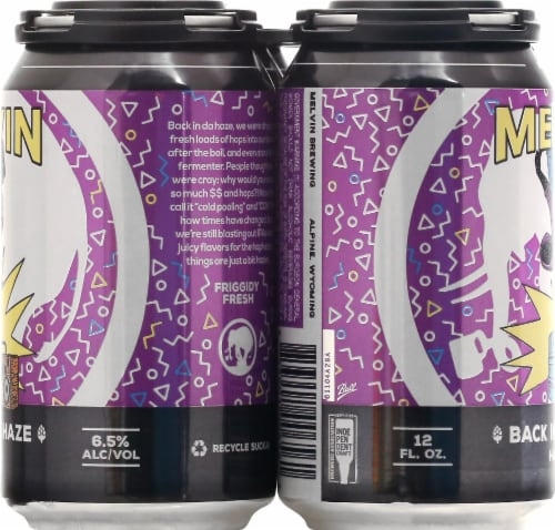 Melvin Brewing Back In Da Days Hazy IPA Beer Perspective: right