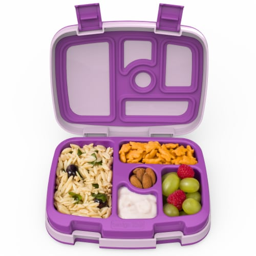Bentgo Kids Childrens Leak Proof Lunch Box - Purple Perspective: right