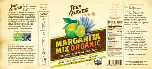 Tres Agaves Organic Margarita Mix Perspective: right