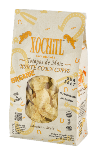 Xochitl Organic White Corn Chips Perspective: right