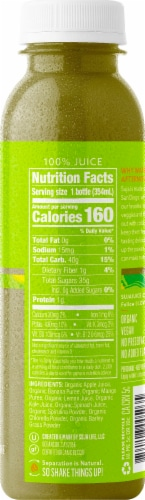 Suja Organic Green Delight Fresh Orange Smoothie Drink Perspective: right