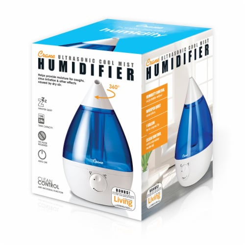 Crane Ultrasonic Cool Mist Humidifier - Blue/White Perspective: right
