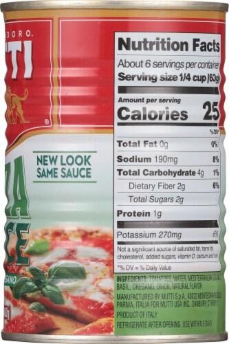 Mutti Basil & Oregano Pizza Sauce Perspective: right