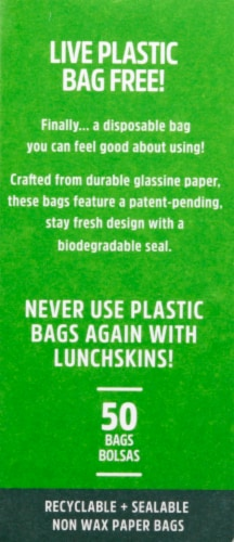 Lunchskins Recyclable + Sealable Paper Sandwich Bags Perspective: right
