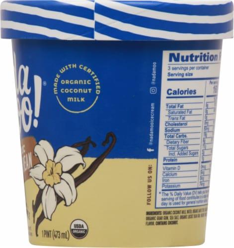 Nadamoo Organic Vanilla Bean Dairy Free Frozen Dessert Perspective: right