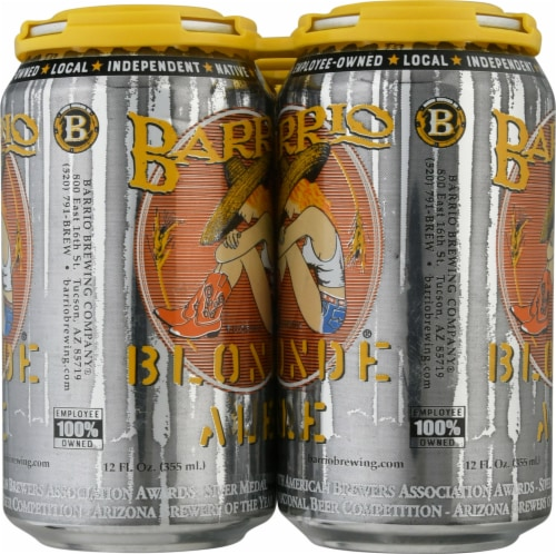 Barrio Brewing Blonde Ale Beer Perspective: right