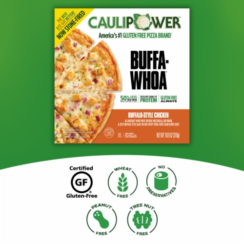 Caulipower Buffa-Whoa Cauliflower Crust Buffalo-Style Chicken Pizza Perspective: right