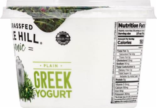 Maple Hill Creamery Organic 100% Grass-Fed Whole Milk Plain Greek Yogurt Perspective: right