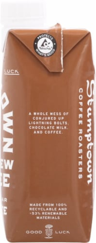 Stumptown Coffee Cold Brew Chocolate Coffee with Cream & Sugar Perspective: right
