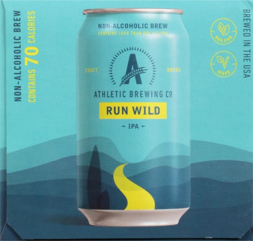 Athletic Brewing Co. Run Wild Non Alcoholic IPA Perspective: right