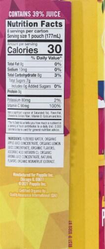 Poppilu Original Lemon Bold & Tangy Lemonade Pouch Perspective: right