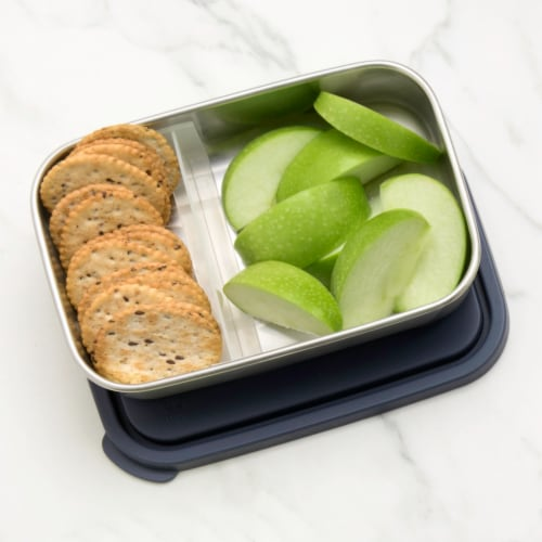U-Konserve Divided Rectangle Stainless Steel Container - Ocean Perspective: right