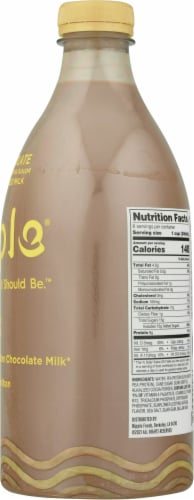 Ripple® Chocolate Dairy-Free Pea Milk Perspective: right