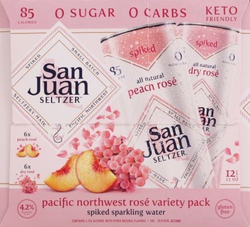 San Juan Seltzer Pacific Northwest Rose Spiked Sparkling Water Perspective: right