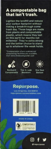 Repurpose 13 Gallon Compostable Extra Strong Tall Kitchen Bags Perspective: right
