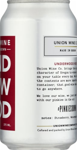 Underwood Rosé Wine Can Perspective: right
