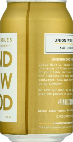 Underwood The Bubbles Sparkling Wine Perspective: right