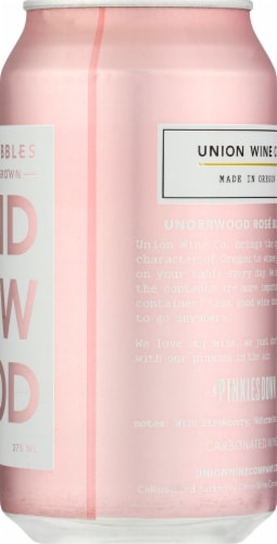Underwood Rose Bubbles Sparkling Wine Perspective: right