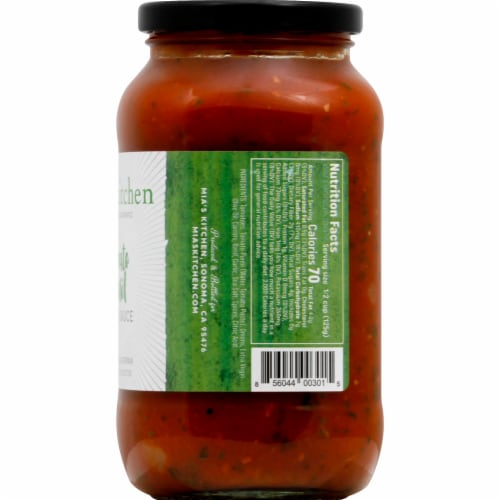 Mia's Kitchen Tomato Basil Pasta Sauce Perspective: right