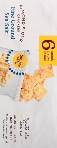 Simple Mills Gluten Free Fine Ground Sea Salt Almond Flour Crackers 6 Count Perspective: right