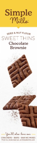 Simple Mills Chocolate Brownie Sweet Thins Perspective: right