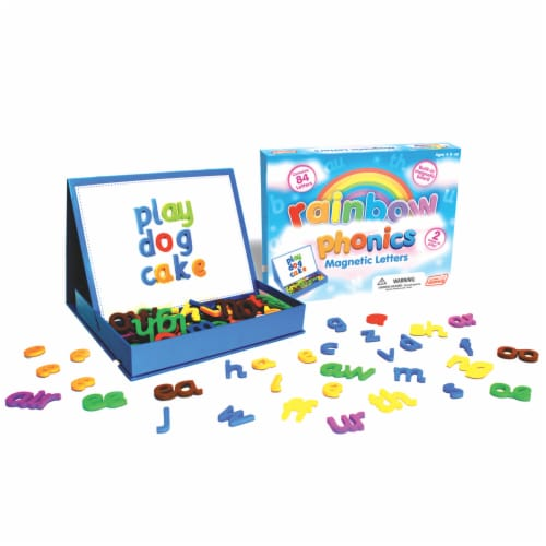 Junior Learning® Rainbow Phonics Magnetic Letters Perspective: right
