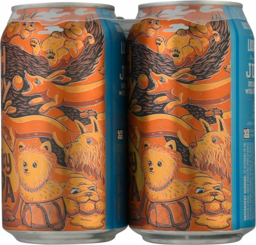Bootstrap Brewing Lush Puppy Juicy IPA Beer Perspective: right
