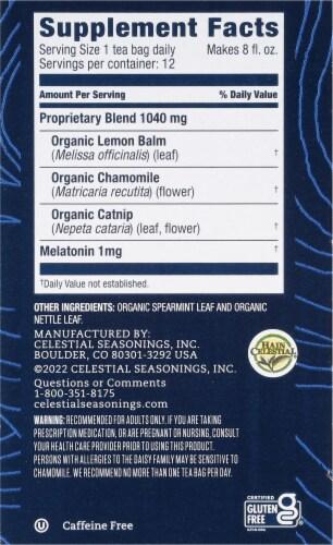 Celestial Seasonings® Tea Well Chamomile Mint Sleep Herbal Supplement Tea Perspective: right