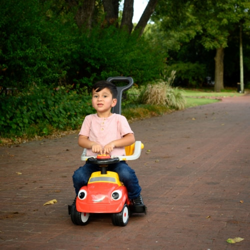 Best Ride On Cars Baby 3 in 1 Little Tikes Push Car Stroller Ride On Toy, Red Perspective: right