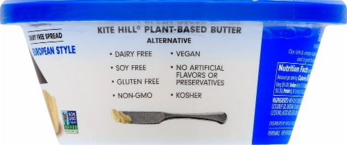 Kite Hill European Style Plant-Based Butter Spread Perspective: right