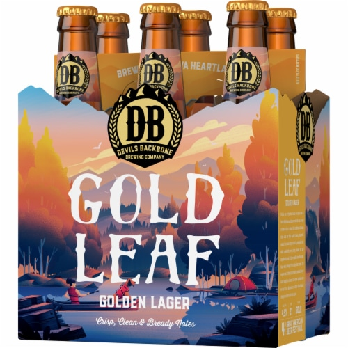 Devils Backbone Brewing Company Gold Leaf Golden Lager Perspective: right