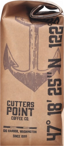 Cutters Point Coffee Co. Fishermen's Blend Dark Roast Ground Coffee Perspective: right