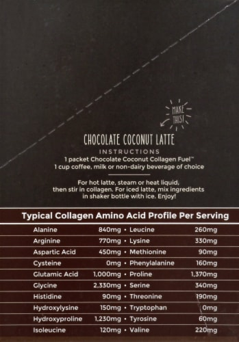 Primal Kitchen Collagen Fuel Chocolate Coconut Collagen Peptide Drink Mix 12 Count Perspective: right