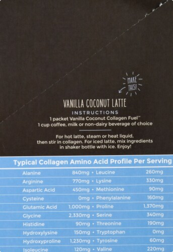 Primal Kitchen Collagen Fuel Vanilla Coconut Collagen Peptide Drink Mix 12 Count Perspective: right