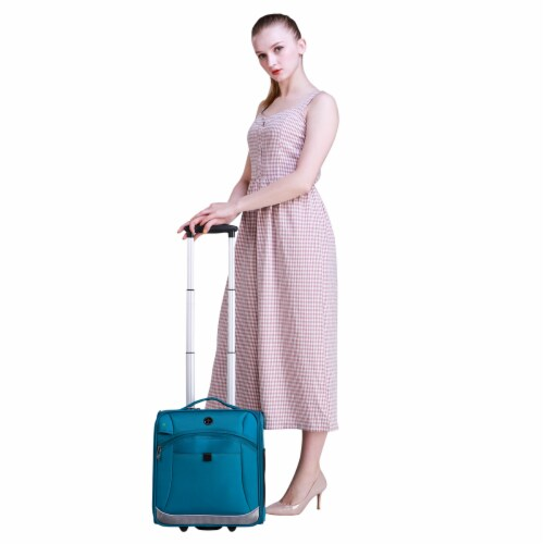 Swissdigital Basel Luggage - Teal Perspective: right