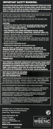 Splat Lightening Bleach Kit Perspective: right
