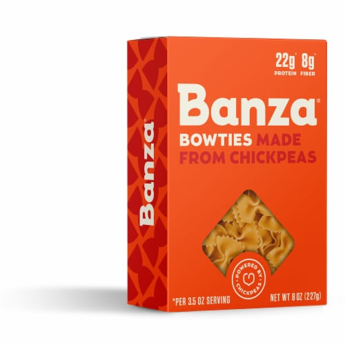 Banza Chickpea Bowties Pasta Perspective: right