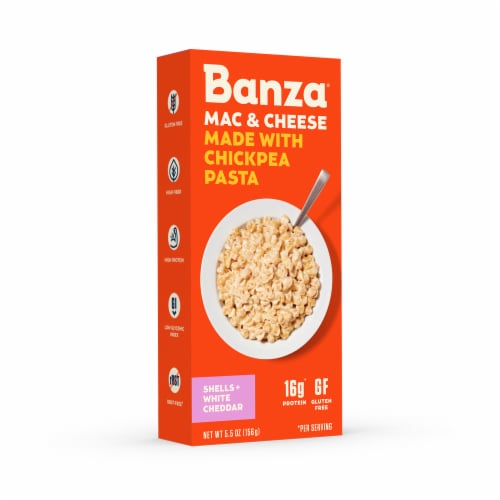 Banza® Mac & Cheese Shells + White Cheddar Chickpea Pasta Perspective: right
