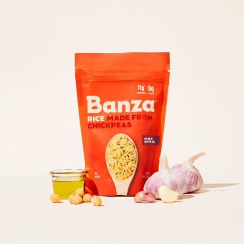 Banza Garlic Olive Oil Chickpea Rice Perspective: right