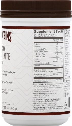 Vital Proteins Hot Cocoa Collagen Latte Supplement Perspective: right