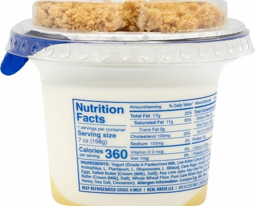 Ellenos Limited Edition Key Lime Pie Real Greek Yogurt Perspective: right